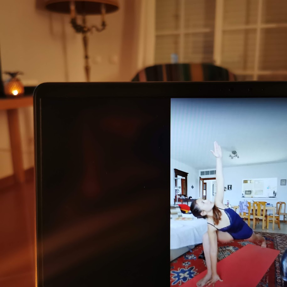 Live streaming yoga sessions One sided angle pose